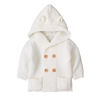 Sıcak Bebek Uzun Kollu Kapüşonlu Ceket