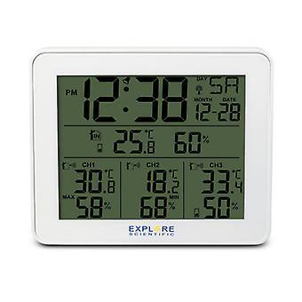 weather station 3 sensors 9.8 x 42.6 x 96 mm white