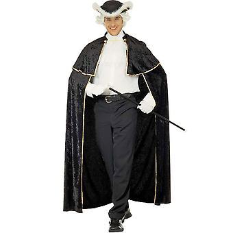 Venetiaanse verleidelijke kaap met volwassen zwarte jabot