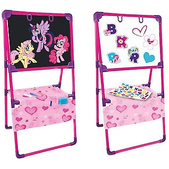 Mochtoys zweiseitige Kinder-Standtafel 11180 My little Ponny in pink und lila