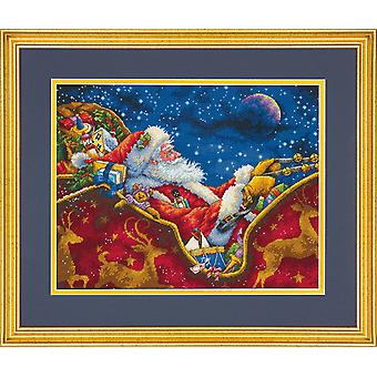 Dimensions Gold: Counted Cross Stitch: Santas Midnight Ride
