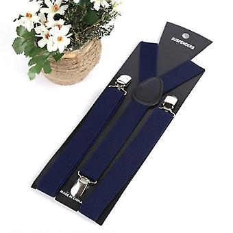Mens, Womens Clip-on Suspenders, Elastic Y-shape Adjustable Braces