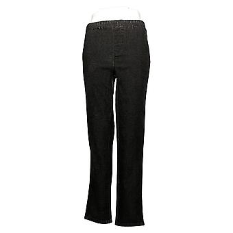 Quacker Factory Women's Pants (XXS) DreamJeannes Straight Black A227963