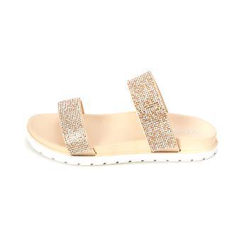 Xoxo Womens Rio1 Open Toe Casual Slide Sandals