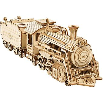 3d Wooden Puzzle For Adults-mechanical Train Model Kits-brain Teaser Puzzles(1:80 Scale)