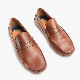Chatham Timor G2 Mens Leather Driving Moccasin Shoes Dark Tan