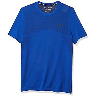 アンダーアーマー シームレス メンズ Tシャツ, カラー: ブルー, ダークブルー, メンズ, シャツ, 1351449-486, ブルー, S
