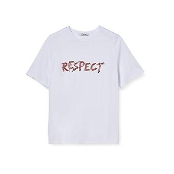 PIECES Pcmaggi SS Tee D2d T-Shirt, Bright White, M Woman