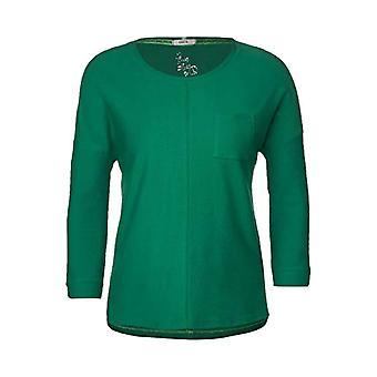 Cecil 315468 T-Shirt, Lucky Clover Green, XS Woman