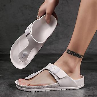 Sommar Cool Mäns Flip-flop Fotbåge Massage Correction Walking Tofflor