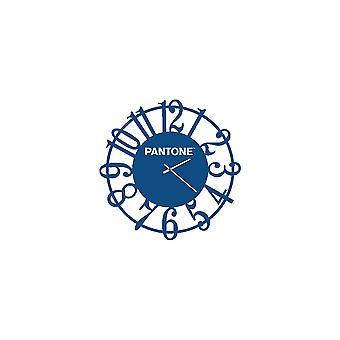 PANTONE Lins klocka färg blå, vit, metall L40xP0.15xA40 cm