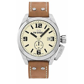 TW Steel Men's Canteen Brown Leather Strap TW1000 Watch