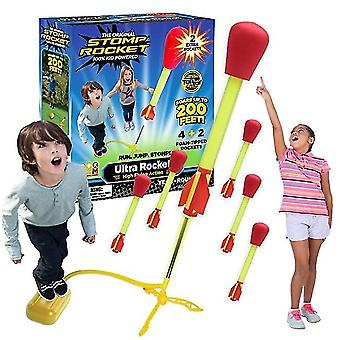 Ultra rocket 3 rockets - outdoor rocket toy gift for boys and girls - comes with toy rocket launcher x7877
