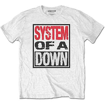 System Of A Down - Triple Stack Box Men's Large T-Shirt - White