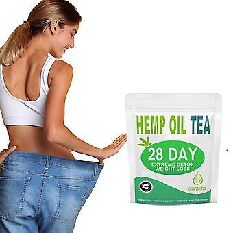 28 Days hemp oil detox weight loss tea