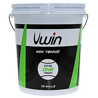 Uwin Stage 1 Green Tennis Balls - Emmer van 72 ballen