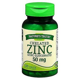 Luonnon totuus Luonnon totuus Kelatoitu sinkkitabletit, 50 mg, 100 tabia