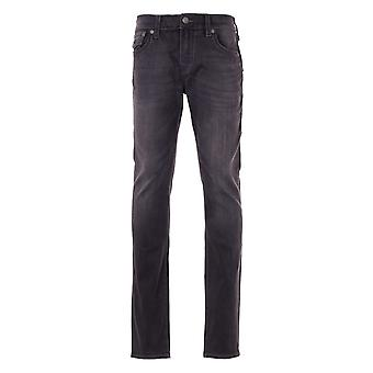 True Religion Rocco Big T Relaxed Skinny Jeans - Black Wash