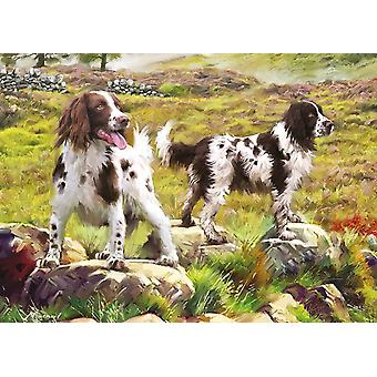Otter House Spaniels On The Moor Jigsaw Puzzle (1000 Pieces)