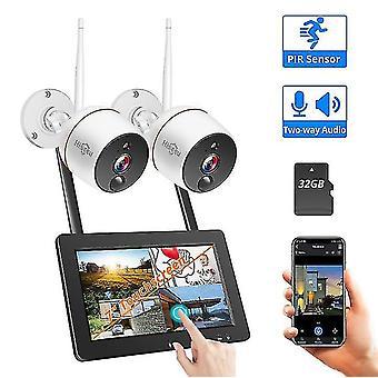Hiseeu WNKIT-7V-2HB412 White 2MP Wireless Network Camera System Set