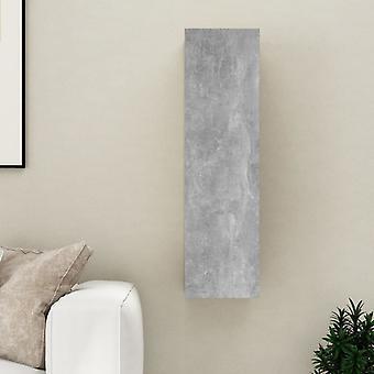 vidaXL armoire TV gris béton 30,5x30x110 cm panneau de particules