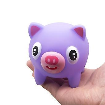 Tunga ut gris med ljud squishy leksak stress avlastare lila