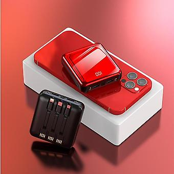 4 In 1 20000 mAh Mini Power Bank Portable Charger LED External Battery Powerbank