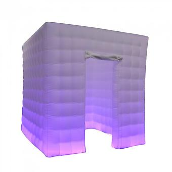 Oxford Cloth Lightweight Inflatable Photo Booth With Led Changing Light