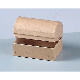 10 Small 8cm Paper Mache Treasure Chests to Decorate | Papier Mache Boxes