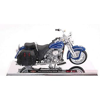 Maisto Harley Davidson 1999 FLSTS Heritage Softail Springer Blue - 1:18