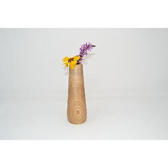 Holzvase Vase 18 cm Esche Blumenvase Vase Holzdekoration Holzdeko Geschenk