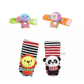 Soft Baby Socks Toy Rattle And Foot Guard (funny Butterflies And Ladybugs)(S1)