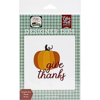 Echo Park muere - Pumpkin Give Thanks, Happy Fall