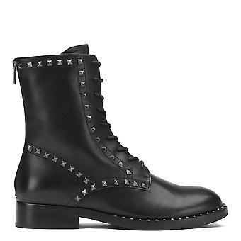 Ash WALLABY Boots Black Leather And Studs