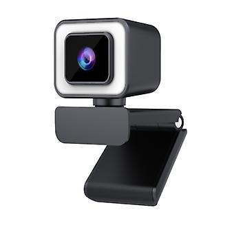 كاميرا ويب HD 1080P، 2K مع الميكروفون، وتستخدم لتسجيل، والدعوة، والألعاب، والاجتماعات، والدورات على الانترنت (أسود)