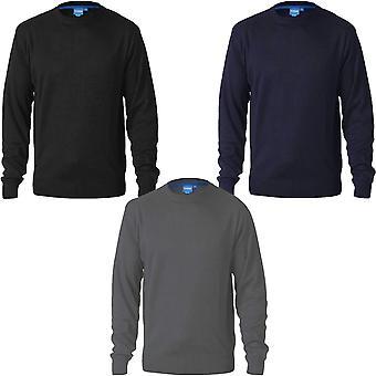 Duke D555 Mens Adkin Big Tall Kingsize Plain Crew Neck Tröja Sweatshirt