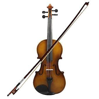 Madeira de violino acústico com case bow rosin