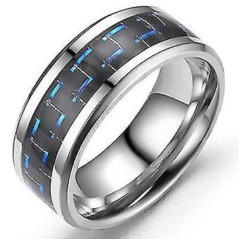 Comfort intarsio drago in fibra di carbonio si adatta all'anello in acciaio inossidabile