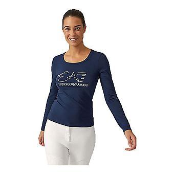 Women's long sleeve T-shirt Armani Jeans 6ZTT84 TJ12Z C1554 Navy