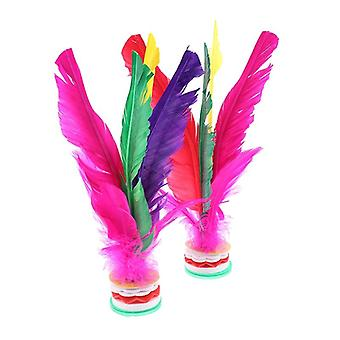 Colorful Feather Shuttlecock Foot Fancy Feather