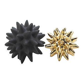 Nikki Chu Black and Gold Spike Sculpture Set, Pack of 1