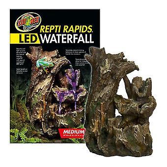 "Zoo Med Repti Rapids LED Waterfall - Wood Style - Medium - (13""W x 8""D x 10""H)"