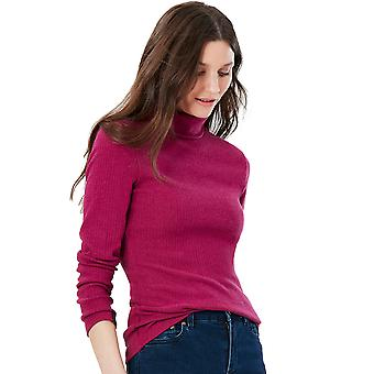 Joules Womens Clarissa Solid Roll Neck Jersey Sweater Top