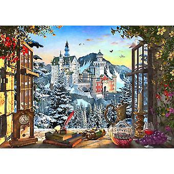 Bluebird Mountain Castle Jigsaw Puzzle (1000 Pieces)