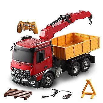 Toy cars 1/20 2.4Ghz engineering vehicle big crane remote control crane simulation grab wood machine electric