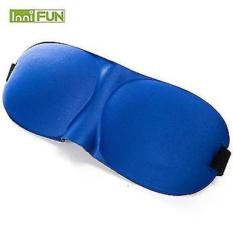 10Pcs 3d slaap oogmasker zachte slapende eyeshade nap blinddoek home office reizen heath care (Blauw)