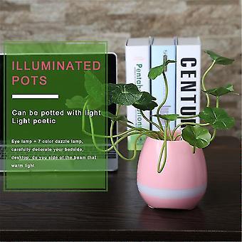 Unique Tokqi Smart Music Flower Pots Bluetooth Night Light Touch Sensors