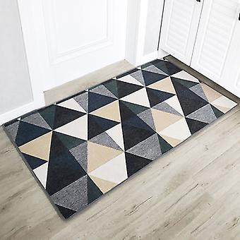 Fußmatten Barrierematten Teppiche innen und außen Die Eingangstür, saugfähige rutschfeste Matten, Geeignet für Flure, Küchen, Schlafzimmer (blau, 80 X 120
