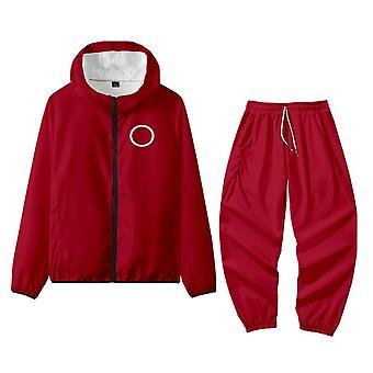 Squid Game Women's Coats Jacket Costumes Zipper Pant Set Sweatshirts Hoodies