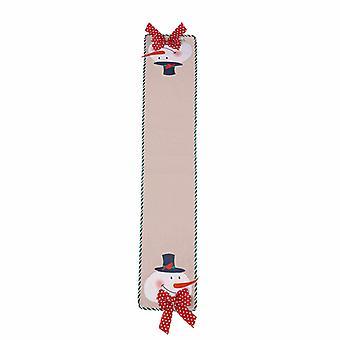 חג המולד רץ חג המולד שולחן פתית שלג מחצלת מצעים קלאסי סנטה שולחן דגל